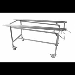 tilting treatment and presentation cart