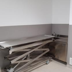 body wash unit with storage