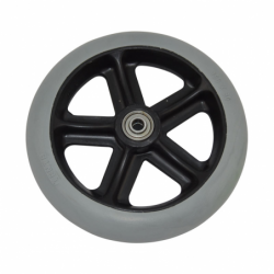 D150 wheel without clevis for funeral stretcher