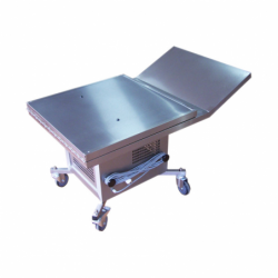 mortuary table to present the bodies