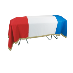 tricolor flag for coffin