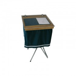 wooden register cover with plexiglass protection